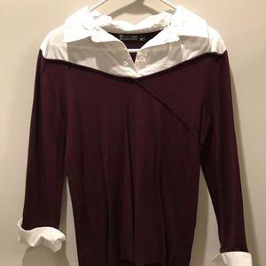 Size M NY&CO illusion fashion sweater